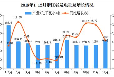 2019年浙江省发电量及增长情况分析