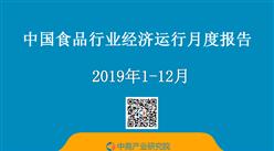 2019年1-12月中国食品行业经济运行月度报告(附全文)