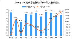2019年山东省化学纤维产量同比下降4.13%
