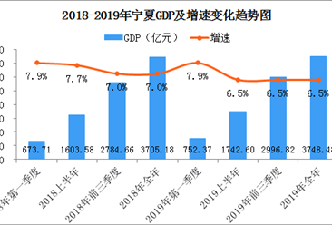 2019年宁夏经济运行情况分析:GDP同比增长6.5%(附图表)