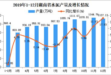 2019年湖南省水泥产量为11194.89万吨 同比增长2.52%