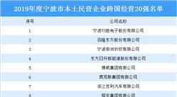 2019年度宁波市本土民营企业跨国经营20强名单:均胜电子上榜(附全名单)