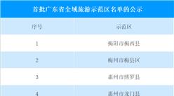 广东省:首批全域旅游示范区名单公示(附完整名单)