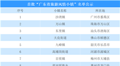 广东省:首批旅游风情小镇名单公示  共20个小镇(附名单)