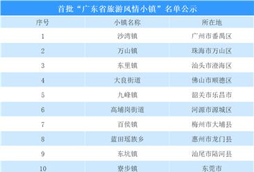 廣東省:首批旅游風情小鎮名單公示  共20個小鎮(附名單)