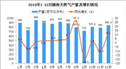 2019年越南天然气产量为10210百万立方米 同比增长2%