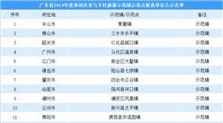 广东省2019年度休闲农业与乡村旅游示范单位公示名单出炉(附名单)