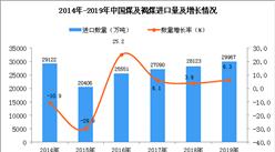 2019年中国煤及褐煤进口量同比增长6.3%