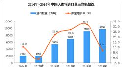 2019年中国天然气进口量同比增长6.9%