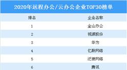 2020年远程办公/云办公企业TOP30排行榜