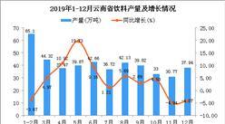 2019年云南省饮料产量为451.6万吨 同比增长3.98%