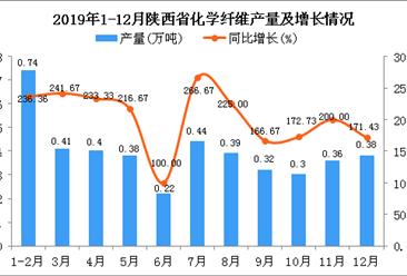2019年陕西省化学纤维产量及增长情况分析