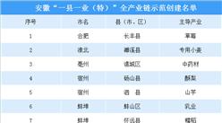 """安徽""""一县一业(特)""""全产业链示范创建名单:看看你的家乡主导发展什么产业?"""
