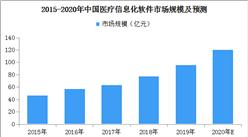 医疗信息化发展迅速:2020年医疗信息化软件市场有望超过120亿元