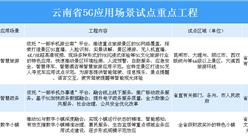 2020年云南省19项5G应用场景试点重点工程汇总一览(表)