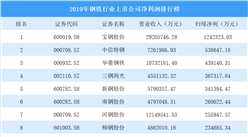 2020年钢铁行业上市公司净利润排行榜:宝钢股份最挣钱(图)