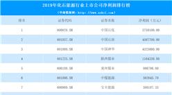 2020年化石能源行业上市公司净利润排行榜:中国石化最赚钱(附表)