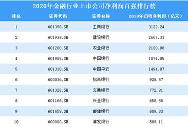 2020年金融行业上市公司净利润百强排行榜