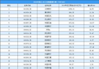 2020年中国上市公司纳税排行榜(TOP100)