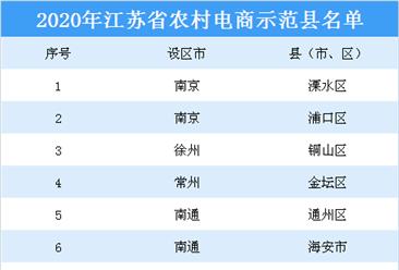 2020年江苏省农村电商示范县名单出炉:共17个示范县上榜(附详细名单)