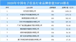 2020年中国电子信息行业品牌价值TOP10排行榜