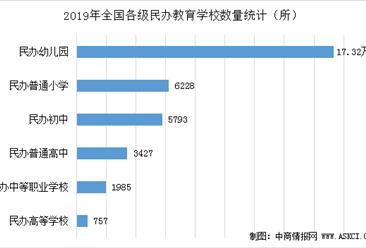2019年全國民辦教育學校達19.15萬所 占全國比重36.13%(圖)