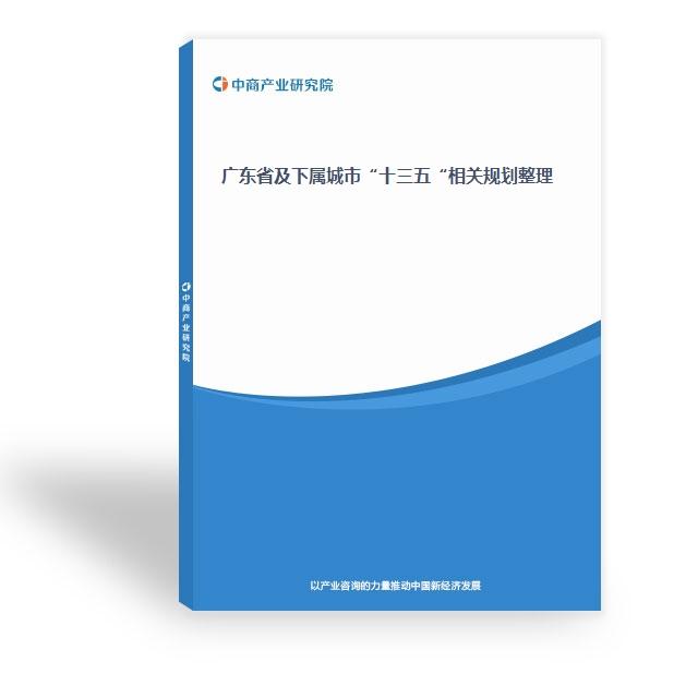"""广东省及下属城市""""十三五""""相关规划整理"""