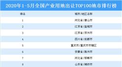 產業地產投資情報:2020年1-5月全國產業用地出讓TOP100地市排名(產業篇)