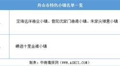 浙江2020年省级特色小镇申报:舟山市特色小镇名单一览(附表)