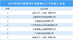 2019年度中國最具行業影響力三文魚加工企業:共八大企業上榜