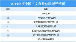 2019年度中國三文魚最佳區域經銷商榜單:漁歌生鮮等上榜(附榜單)