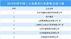 2019年度中国三文鱼最具行业影响力进口商榜单:8大企业上榜(附榜单)