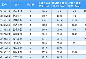 2020年中国上市企业增发计划投入募集资金排行榜 TOP100