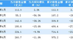 2020年6月新城控股銷售簡報:銷售額同比下降11.8%(附圖表)