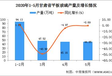 2020年1-5月甘肃省平板玻璃产量231.67万吨 同比增长24.01万吨