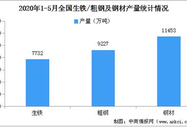 2020年1-5月钢铁行业运行情况分析:铁矿石价格持续攀升(图)