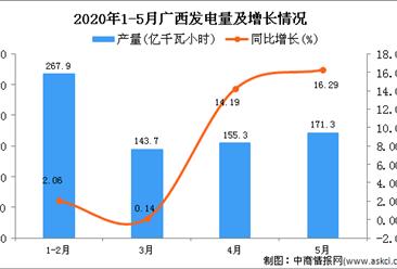 2020年5月广西发电量及增长情况分析