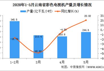 2020年1-5月云南省发电量产量为1007.50亿千瓦小时  同比增长30.06%