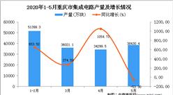 2020年1-5月重庆市集成电路产量为160141.2万块 同比增长32.1%