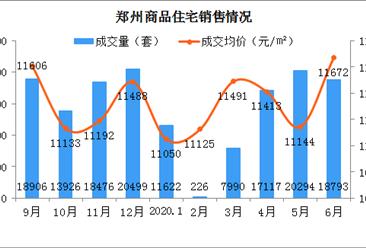 2020年6月郑州各区商品房成交及房价情况分析:惠济中原房价涨幅明显(图)