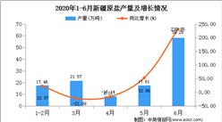 2020年1-6月新疆原鹽產量為142.13萬噸   同比增長119.17%