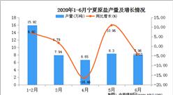 2020年1-6月寧夏原鹽產量為46.78噸   同比增長20.54%