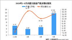 2020年1-6月內蒙古原鹽產量為43.79萬噸 同比下降6.03%