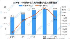 2020年1-6月陕西省交流电动机产量为100.99万千瓦  同比增长26.67%