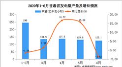 2020年1-6月甘肃省发电量产量为774.10亿千瓦小时   同比增比增长19.41%