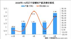 2020年1-6月辽宁省铜材产量为8.54万吨 同比增长11.93%