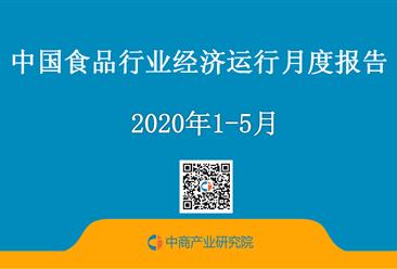 2020年1-5月中國食品行業經濟運行月度報告(附全文)
