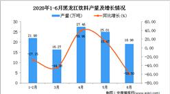 2020年6月黑龍江飲料產量及增長情況分析