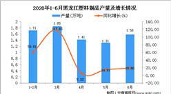 2020年6月黑龙江塑料制品产量及增长情况分析
