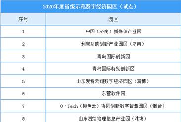 2020年度山东省级示范数字经济园区(试点)建设清单:17家园区入选